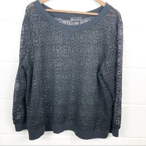 Lane Bryant Long Sleeve Lace Top